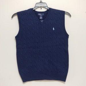 Boys Polo Ralph Lauren Sweater Vest Size Large
